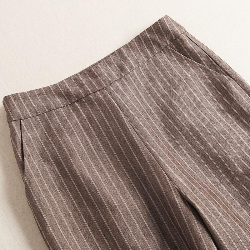 Pantalons Femmes Office Et Picture Ensemble Printemps Vêtements De 2 Color Lady 2019 Rayé Costume Blazers Qualité Haute Pièces n158gqwPSx