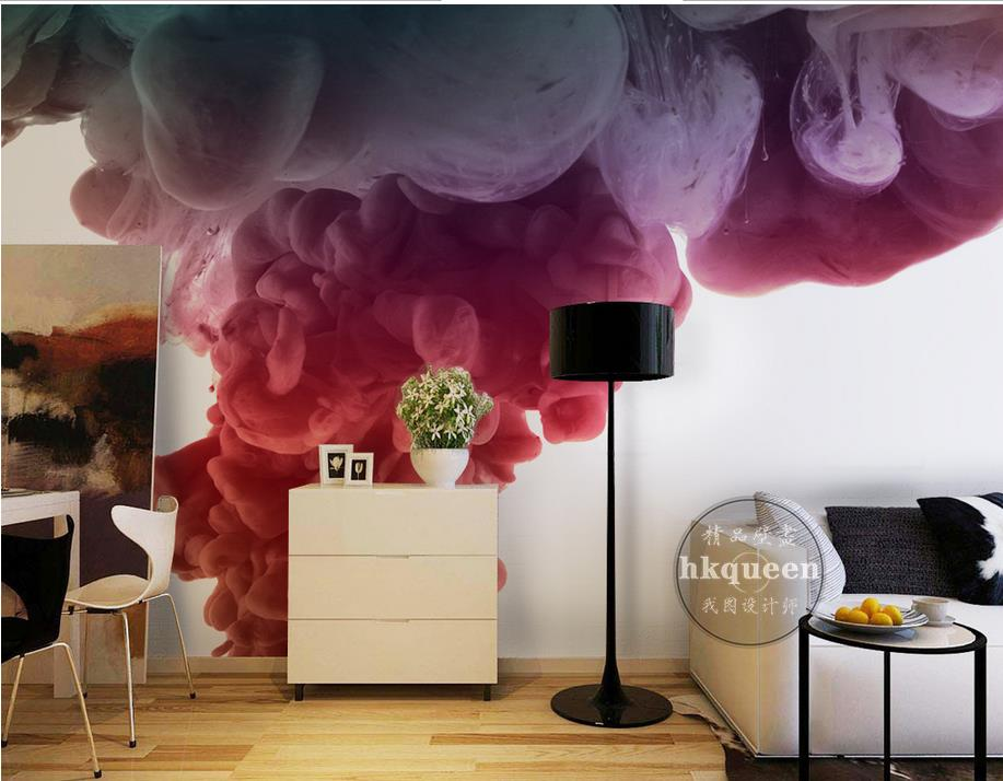 customize photo murals 3d living room wallpaper Thick smoke watercolor thick color 3d wall mural wallpaper 3d horse wallpaper blue earth cosmic sky zenith living room ceiling murals 3d wallpaper the living room bedroom study paper 3d wallpaper
