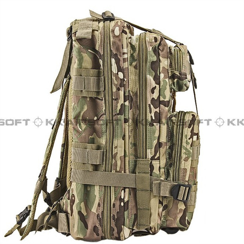 outdoor military tactical backpack Level 3 MOLLE Assault Backpack Bag Multicam MW SAND Dark Green ACU BK Green Camo  [CG-02] woodland camo unisex tactical assault backpack camping travel bag multicam combination mountaineering shoulders backpack
