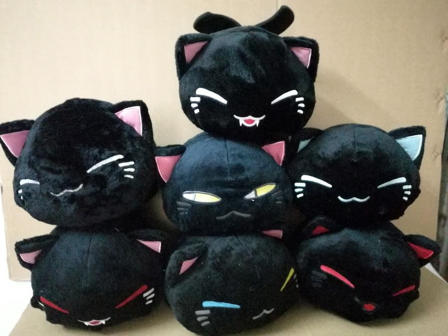 28  Cartoon Nemuneko Cat Figures Vampire And Angel Series Sleeping Cat Soft Plush Doll Toys Kawaii Maneki Neko Pillow Plush Toys