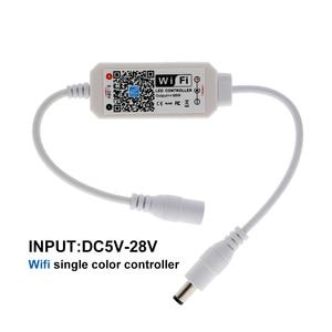 Image 5 - קסם בית DC5 28V אלחוטי מיני WiFi Dimmable בקר יחיד צבע LED בקרים עבור 2835 5050 5630 5730 LED רצועת אור