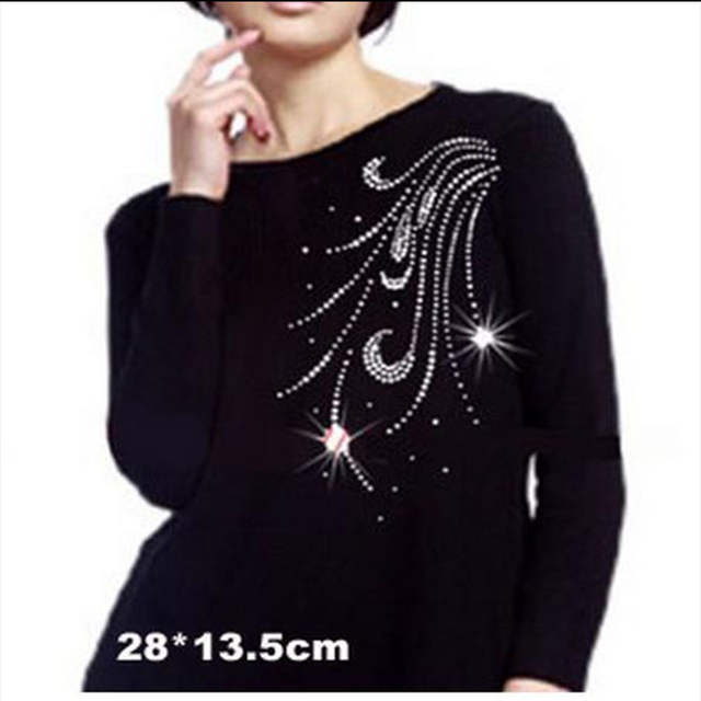placeholder 2018 10piece lot Hot Fix Rhinestones motif crystal pearl Heat  Transfer design iron on clothes 4625c5eae619