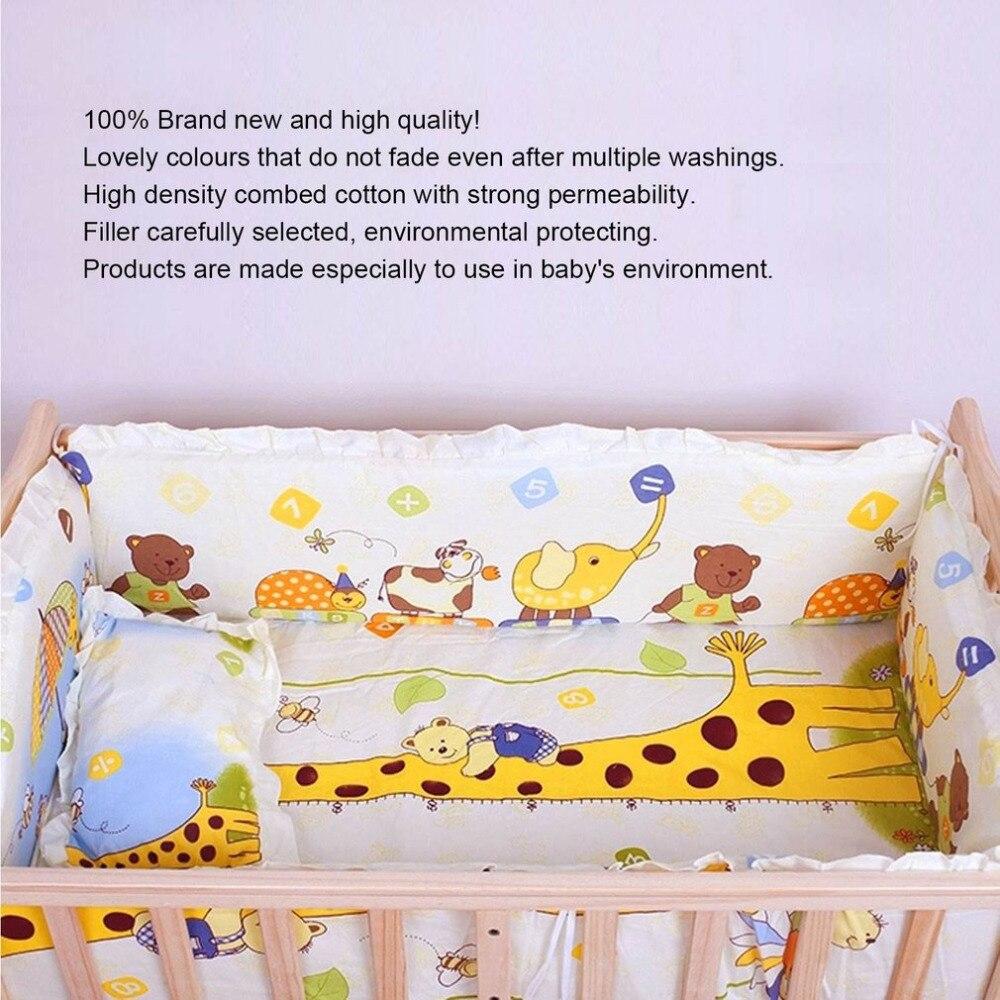 OUTAD Новый детские, для малышей Постельное белье милый 100*58 см 5 шт./компл. продвижение хлопка удобная кровать бампер Детские Организатор крова... ...