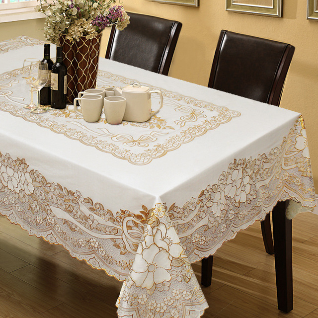 European Garden Tablecloth Print Waterproof And Oilproof PVC For Wedding TV  Cabinet Cushion Package Elegant Table