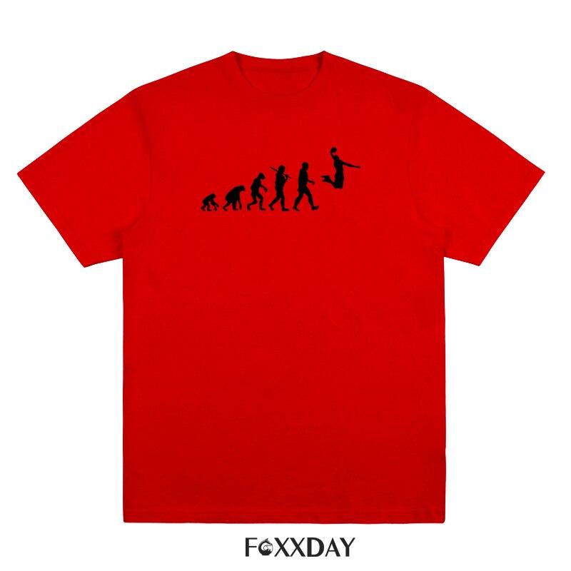 Evolution Basketballs T-shirt Slam Dunk Printed T Shirts Men Short Sleeve Cotton Tops Tee shirt Funny Brand Clothing Camisetas