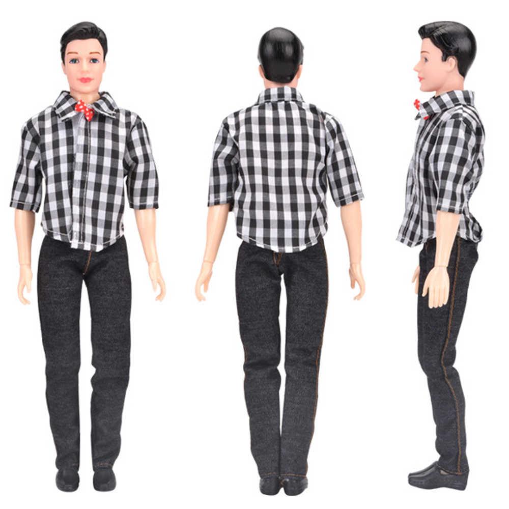 NK один комплект принц Кен Кукла одежда модный наряд крутая повседневная одежда для Барби Кукла-мальчик аксессуары детский подарок 047F