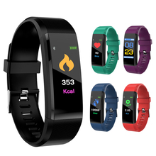 Smart Bracelet Bluetooth 115Plus Wristband Heart Rate Monitor Watch Activity Fitness Tracker SmartBand Sport Watch id107 plus hr gps smart bracelet heart rate monitor pedometer smartband bluetooth fitness band activity sports tracker wristband