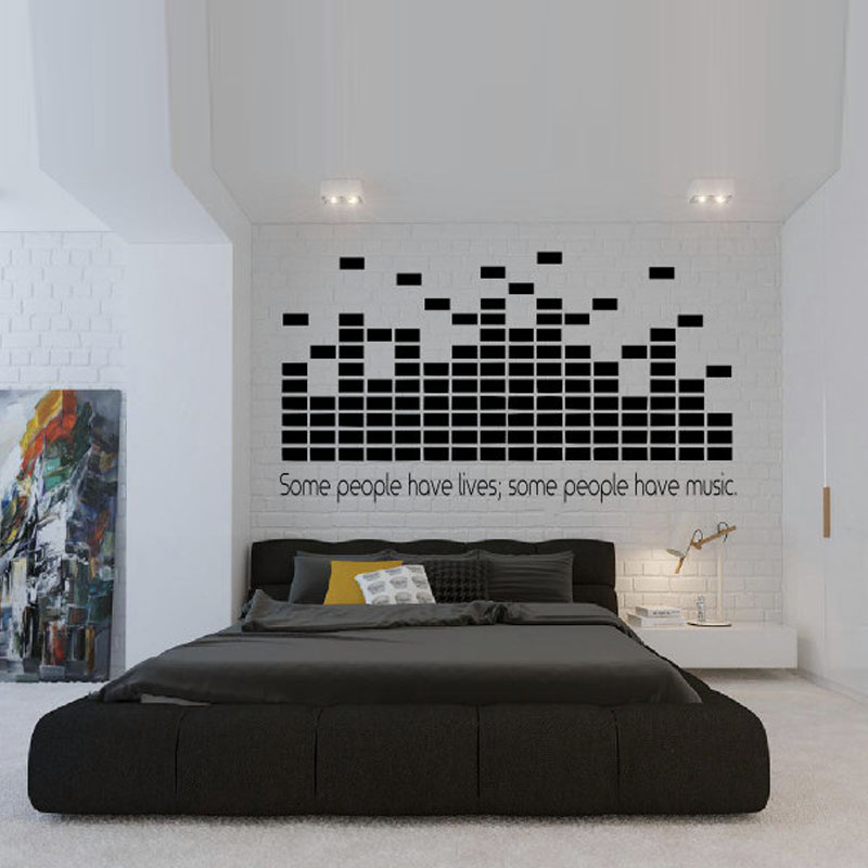 DCTOP Some People Have Lives Some People Have Music Wall Decals DJ  Equalizer Home Decor Wall Stickers Living Room In Wall Stickers From Home U0026  Garden On ...