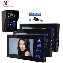 Yobang Security Freeship Video Intercom Ir Camera With Code Keypad Video Doorphone Support Remote Control RFID Keypad Unlock
