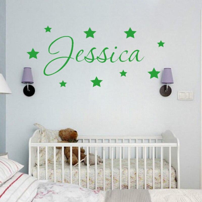 Personalised Name Bedroom Door Wall Art Boys Girls Room Childrens Kids Sticker 4