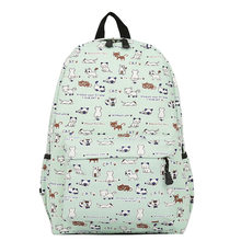 c47ccbc3ba Harajuku Style Women Canvas Backpacks Teenage Girls School Bags Cartoon Cat Backpack  Female travel Bag Campus