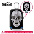 Dispalang Skull Black Luggage Cover Cool Waterproof Elastic Suitcase Protective Fashion Luggage Bag Cover for Duffle 18-30 Inch