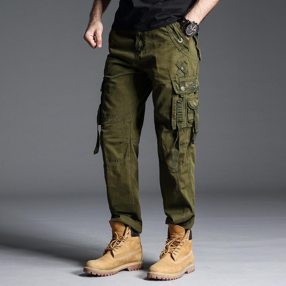 Hommes Pantalons Pour Pantalon green Cargo Militaire Tactique 6662 camouflagegreen black Camouflageblack Camouflage Droit Vert Style Les Armée Militaires 558grnP