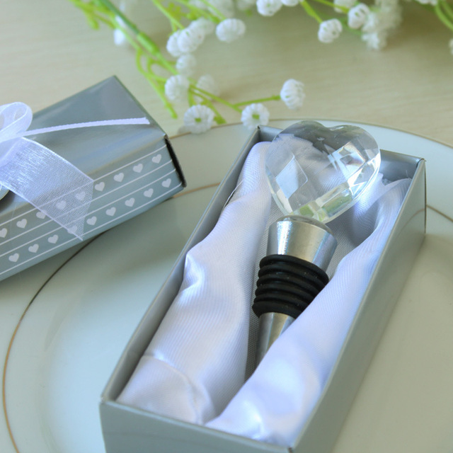 12pcslot Crystal Wine Bottle Stopper Wedding Favors Wedding Gifts
