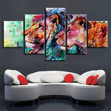 5pcs DIY Diamond Painting Colorful Animal Lion Full Square Embroidery Mosaic Picture Of Rhinestone H325