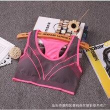 sports bra running gym Underwear wire free Women's sport bra top yoga bra fitness set Crop top girls brassiere sports bras top