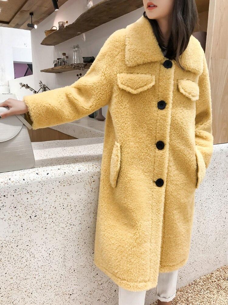 100% Wool Coat WomenSIngle Breasted Long Sleeve Over Coat Women Winter Warm  Long Jacket rf0261