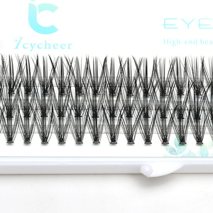 Image 5 - ICYCHEER Pro 8 12mm 0.07/0.10 C Curl Makeup Individual Lashes Thick Natural Individual Cluster Eyelashes Extension