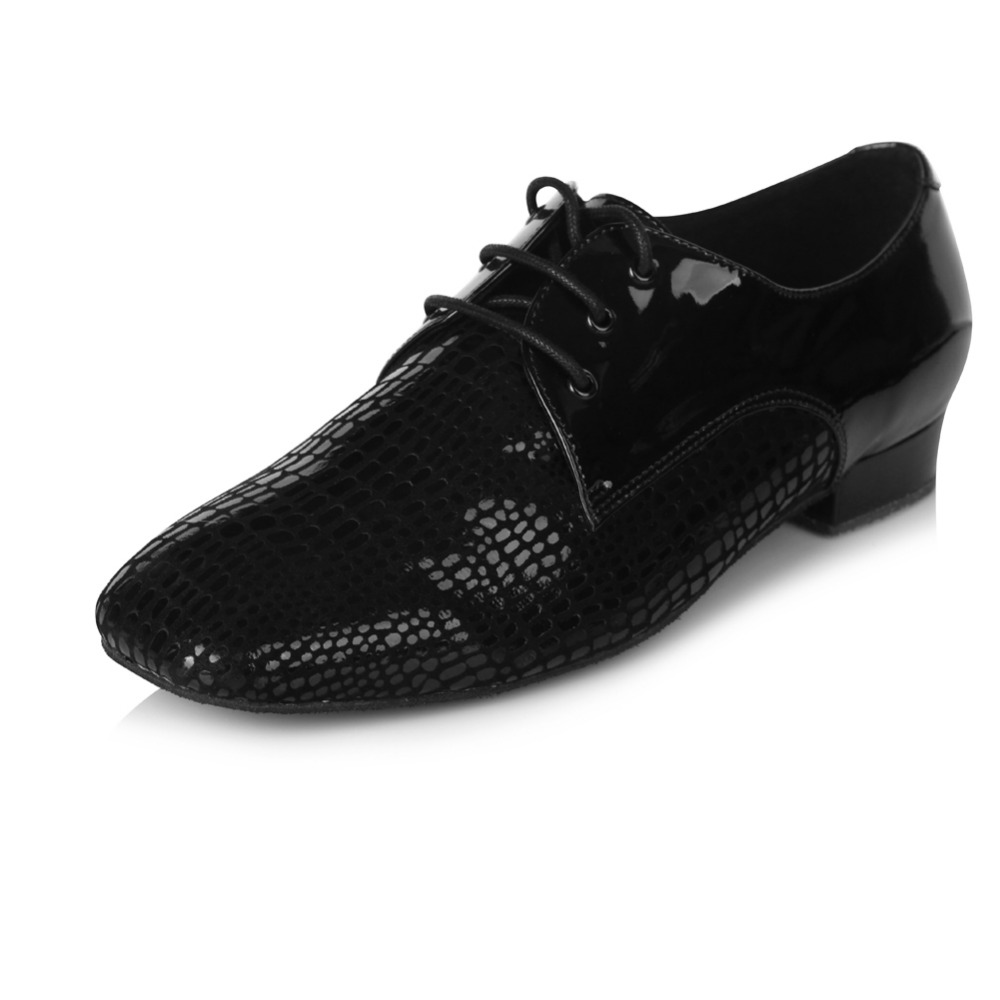 Professional Mesh Mens Ballroom Latin Tango Dance Shoes 2.5cm Heeled Black Salsa Party Dancing Shoes 2 Type