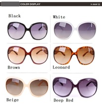 Women Sun Glasses Vintage 10 Colors Fashion Big Frame