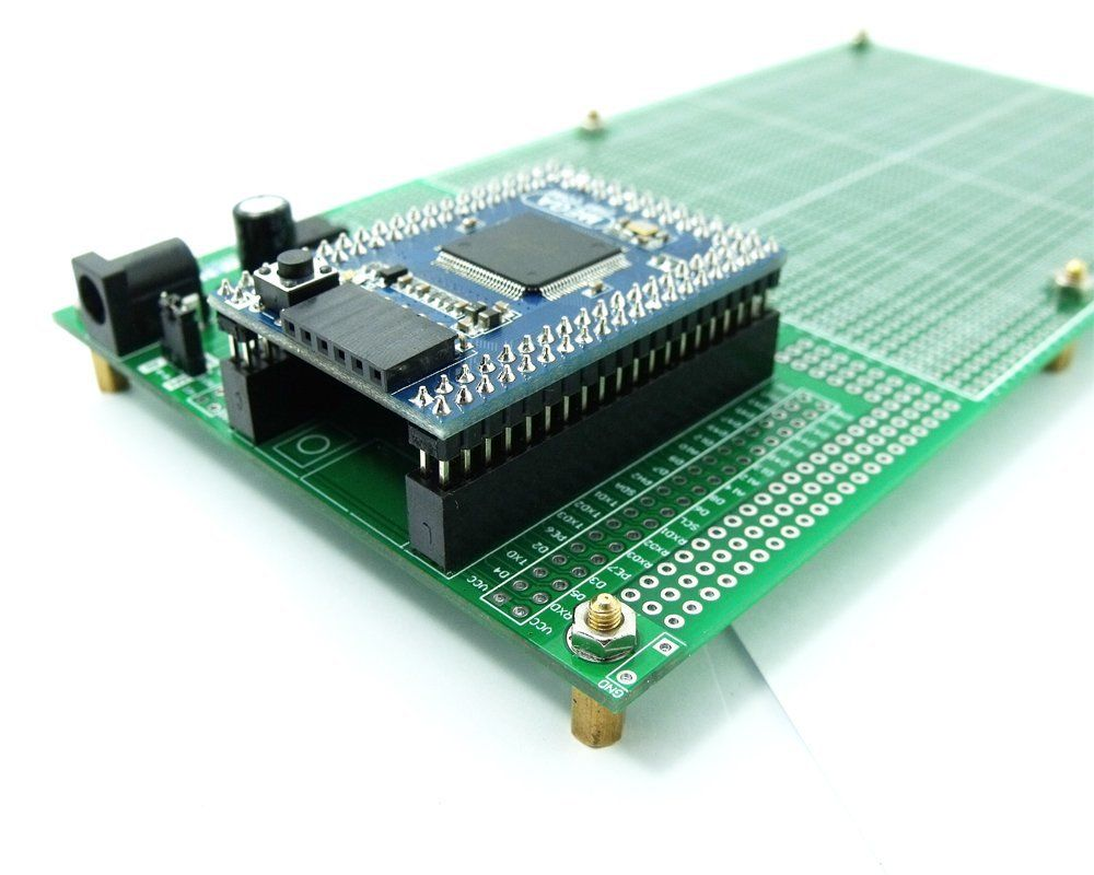 imágenes para Lateral doble Prototipo PCB Breadboard DIY 100x200mm 4.096 V y Mega mini 2560 kits
