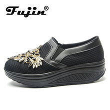 Fujin Summer New Women Thick-soled Shake Fashion Casual Shoes Dropshipping Thick Bottom Sponge Cake Single Cushion