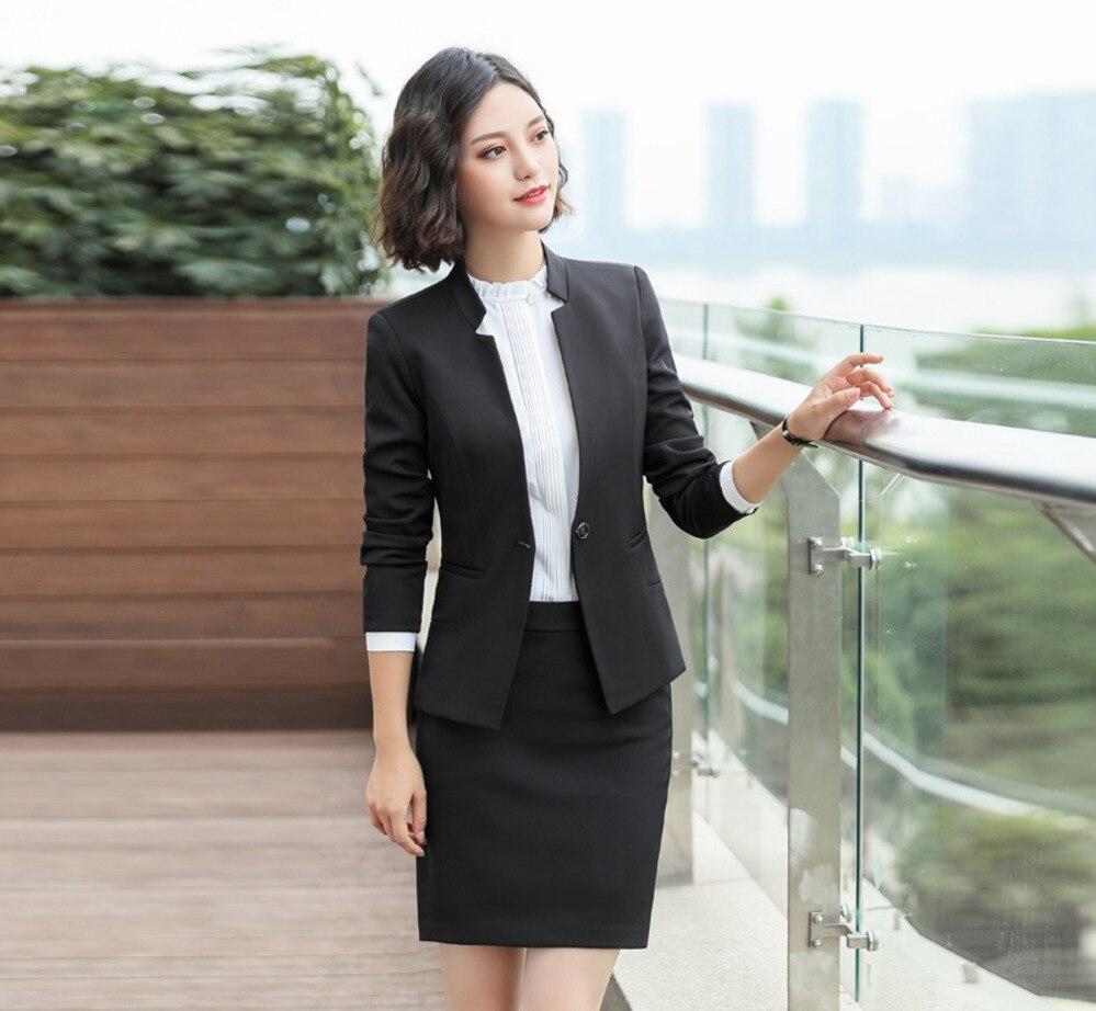 48ee4ed26 US $22.88 |V Neck Ladies Blazer Women Blazers Suit Sexy Long Sleeve Party  Female Blazer Jacket Business Female Coat Black Blue Skirt Pants-in Pant ...