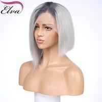 Синтетические волосы на кружеве человеческих волос парики предварительно сорвал 13x4 бразильский Ombre Синтетические волосы на кружеве парик