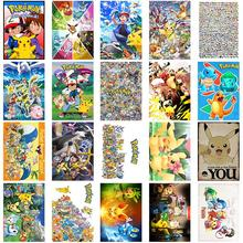A1-34# Pocket Monster Cartoon 20/pcs PVC Series Sticker Home Decor Fridge Styling Wall Travel Suitcase Graffiti Stickers
