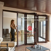 latest saving space option balcony aluminium folding glass door Aluminium Double Glass Sliding Folding Door for Entrance|Doors| |  -