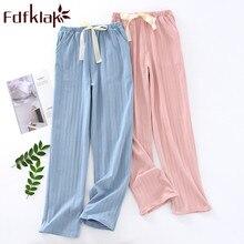Pantalones de pijama de primavera y verano para mujer, ropa de dormir de algodón para mujer, pantalones de pijama para mujer, pantalones de pijama para dormir Fdfklak