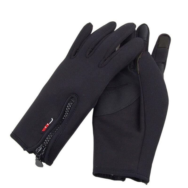 Waterproof Winter Warm Gloves Windproof Outdoor Gloves Thick Warm Mittens Touch Screen Gloves Unisex Anti-slip Design Glove Men