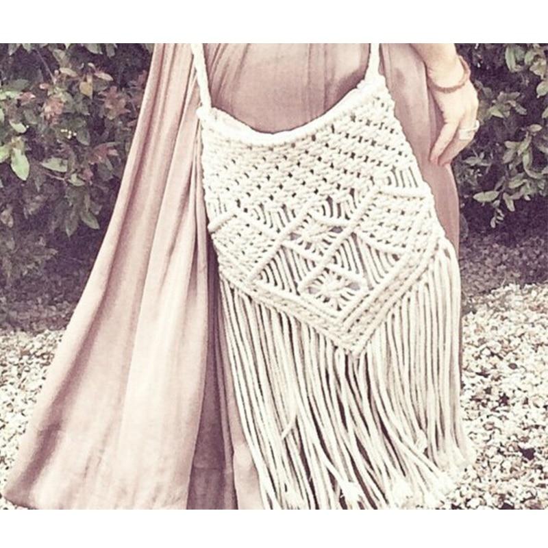 Handmade Rope Woven Tassel Bag 1