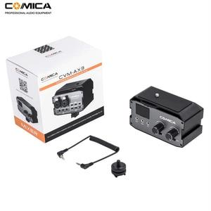 Image 5 - Comica CVM AX3 XLR Mixer Audio Adattatore Preamplificatore Dual XLR/3.5 millimetri/6.35 millimetri Porta Miscelatore per Canon Nikon fotocamere REFLEX Digitali e Videocamere