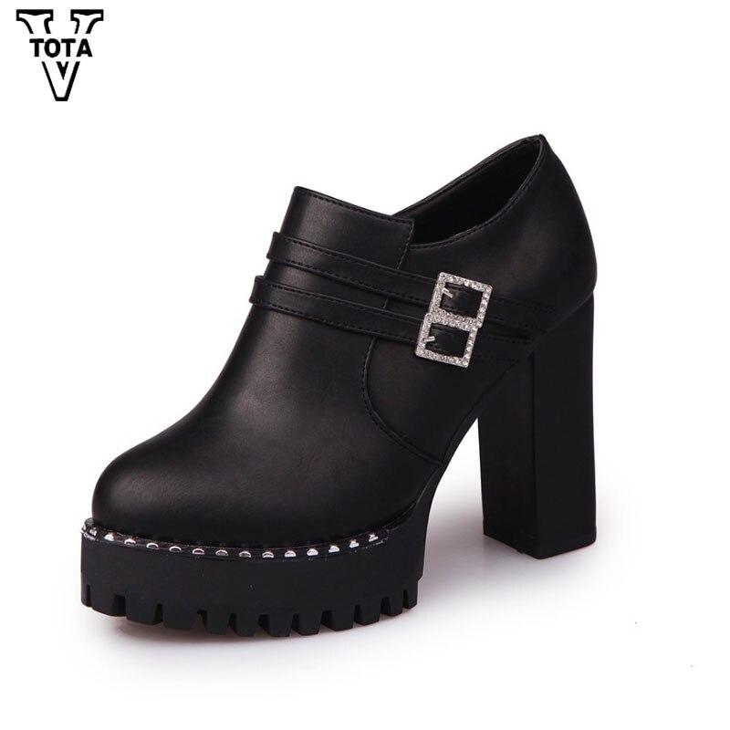 VTOTA Fashion Platform Ankle Boots Spring Autumn Boots Women High Heels Women Shoes Height Increasing Shoes Woman Zip Botas E28 vtota spring autumn martin boots fashion boots women high heels shoes woman botas mujer ankle boots platform bota feminina fc24