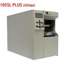 Zebra 105sl plus industrial adhesive sticker printer 203DPI Base Model Keep working 24 hours