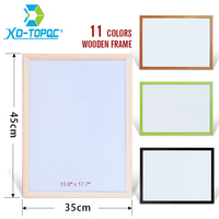 XINDI 35 45cm Free Shipping New Dry Wipe WhiteBoard Pine Wood Frame Magnetic White Board Erased