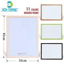 XINDI 35*45 cm tablica nowy wytrzeć do sucha rama z drewna sosnowego biała tablica magnetyczna usunięte łatwe pisanie deski do rysowania dla darmowa wysyłka WB43
