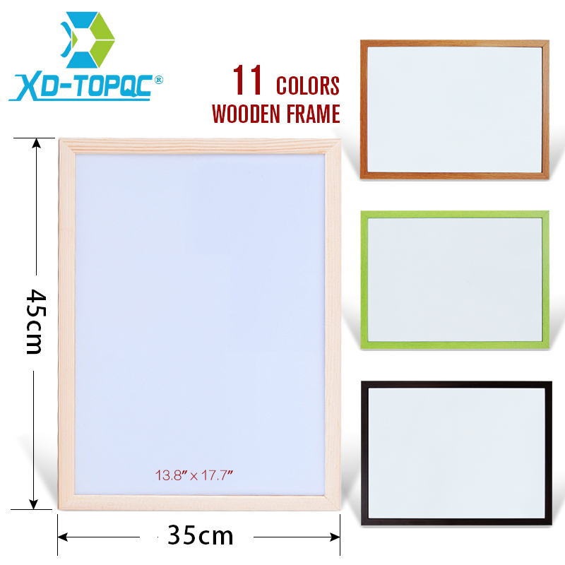 XINDI 35*45cm WhiteBoard New Dry Wipe Pine Wood Frame Magnetic White board Erased Easy Writing Drawing Boards Free Shipping WB43