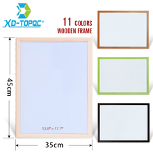 Купить с кэшбэком XINDI 35*45cm Free Shipping New Dry Wipe WhiteBoard Pine Wood Frame Magnetic White board Erased Easy Writing Drawing Boards WB43