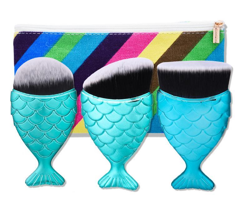 Tesoura de Maquiagem halu sereia forma makeup brushes Tamanho : Full Size