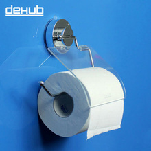 Dehub Super Sucker Toilet Paper Holder Rollpaper Flexible With Cover Kitchen DeHUB White Wall Mounted