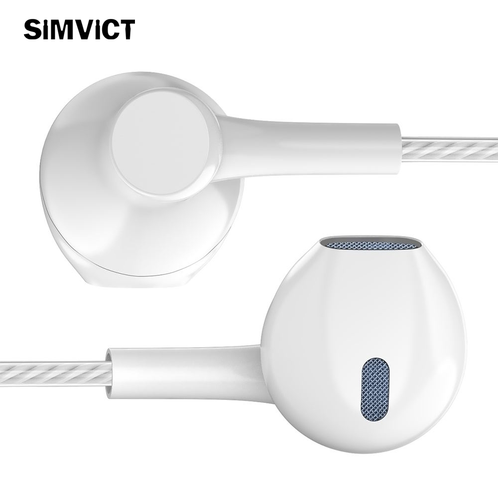 Simvict N5 Half In-ear Earphone Bass Sound Sport Headphones With Mic Gaming Headset