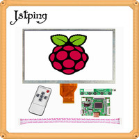 Jstping 9 inch LCD display screen panel AT090TN10 12 Monitor+Driver Board Ultra small minitype HDMI lcds board for Raspberry Pi