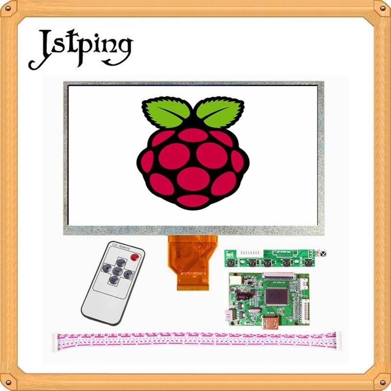 Jstping 9 pouces écran LCD panneau AT090TN10 12 moniteur + carte pilote Ultra petite carte LCD minitype HDMI pour Raspberry Pi