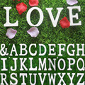 Large Wooden Letters Alphabet Wall Hanging Wedding Party Home Decoration HG3884-HG3910