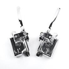 1 пара серебряный тормозной цилиндр рычаг сцепления для Suzuki Intruder 800 1400