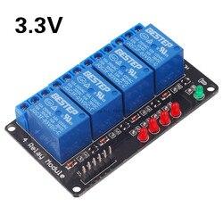 3,3 V 4 канала 3 релейный модуль с лампа низкого уровня триггера 4-Канальный Релейный Модуль