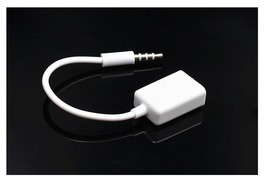 by DHL or Fedex 500pcs 3 5mm Male AUX Audio Plug Jack To USB 2 0