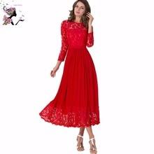 Rote Spitze Mutter der Braut-outfits Drei Viertel für Hochzeit Bodenlangen Abend Brautkleider Online Vestido De Madrinh
